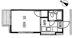 メゾンフジ 南林間 4世帯[201号室号室]の間取り