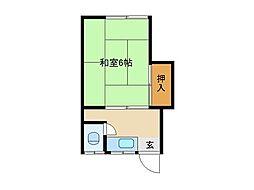 東京都杉並区成田西4丁目の賃貸アパートの間取り