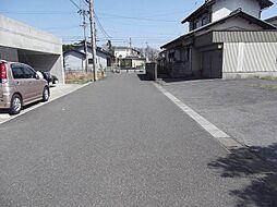 現地北側の道路...