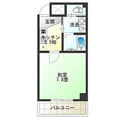 TOYOTOMI STAY PREMIUM NAGAHASHI 8階1Kの間取り