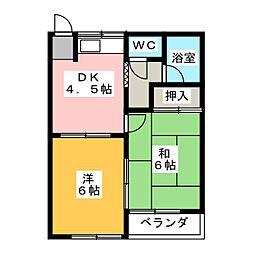 ムーニーカニエ[1階]の間取り