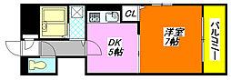 メルシィ・2000 4C号室[4階]の間取り
