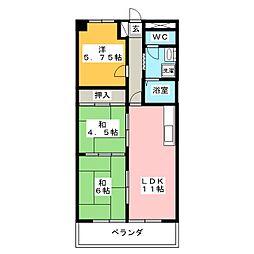 ラフィーネ30[3階]の間取り