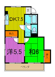 大河内マンション[3階]の間取り
