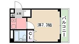 プレンティハウス[201号室]の間取り