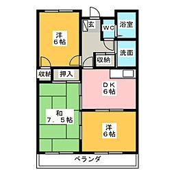 アビタシオン京殿[4階]の間取り