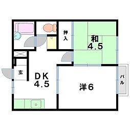 プロパティカオル[2階]の間取り