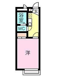 愛知県名古屋市昭和区北山町2丁目の賃貸アパートの間取り
