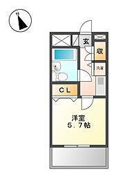 ライオンズマンション徳川[1階]の間取り
