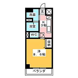 エローラ藤枝[5階]の間取り