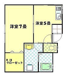 寿荘[202号室]の間取り