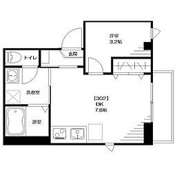 仮称:大和田Tマンション[302号室]の間取り