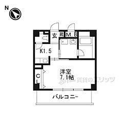 プラスコート豊川駅前 3階1Kの間取り