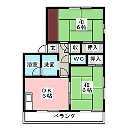 メゾン足立[1階]の間取り