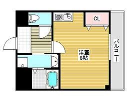 ロイヤルメゾン北花田[3階]の間取り