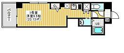 Regulus三ノ輪 6階1Kの間取り