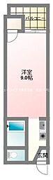 京阪本線 大和田駅 徒歩10分の賃貸マンション 1階1Kの間取り