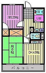 富田マンション[202号室]の間取り