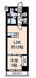 神奈川県横浜市中区弥生町1丁目の賃貸マンションの間取り