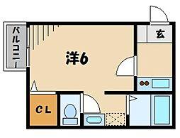 アークヴィラ霞ヶ関[1階]の間取り