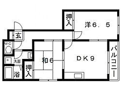 メゾンプランドール[1階]の間取り