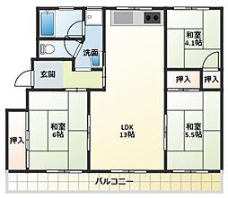 ステラ加古川3号棟[2階]の間取り