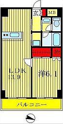 インシュランスビルディング II・III[7階]の間取り