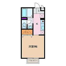 三重県四日市市海山道町2丁目の賃貸アパートの間取り