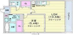 JR仙石線 福田町駅 徒歩9分の賃貸マンション 1階1LDKの間取り