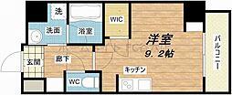 エスパシオ・コモド大阪新町 5階ワンルームの間取り