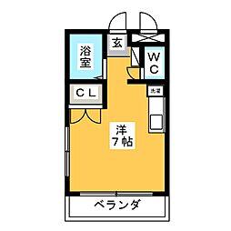 リモーブル旭ヶ丘[4階]の間取り