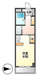 ドール新栄[2階]の間取り