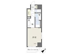 川崎区堀之内町計画 8階1Kの間取り