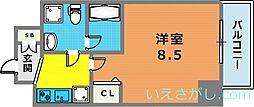 シャルマンパレ神戸花隈[5階]の間取り