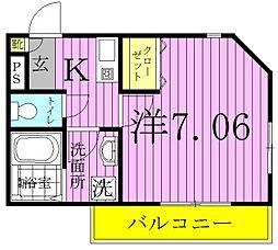 ケイズパレス綾瀬[2階]の間取り