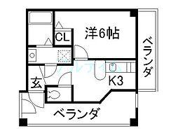 リーフジャルダンレジデンスタワー[6階]の間取り