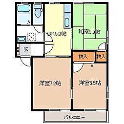 グランドール21 A[1階]の間取り