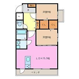 仮)前川様マンションII[2階]の間取り