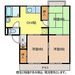 長野ガーデンハイツB棟[1階]の間取り