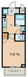 名古屋市営名城線 名古屋大学駅 徒歩17分の賃貸マンション 1階1Kの間取り
