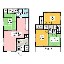 [一戸建] 静岡県浜松市東区積志町 の賃貸【/】の間取り