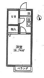 カントリー佐須[205号室]の間取り