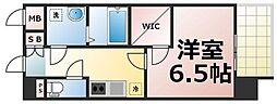 JR大阪環状線 玉造駅 徒歩9分の賃貸マンション 14階1Kの間取り