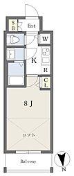 Osaka Metro谷町線 天満橋駅 徒歩7分の賃貸マンション 7階1Kの間取り