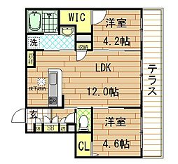 Shamaison Fuso(シャーメゾンフソウ) 1階2LDKの間取り