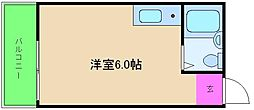 サンレスポワール天六[4階]の間取り
