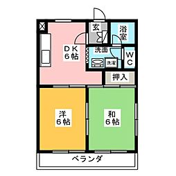 MANSION EVERGREEN[4階]の間取り