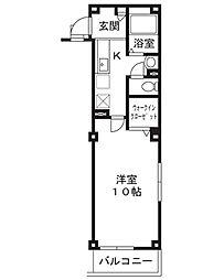 ディアコート方南[1階]の間取り