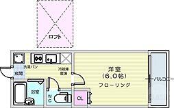 仙台市地下鉄東西線 八木山動物公園駅 徒歩25分の賃貸アパート 2階1Kの間取り