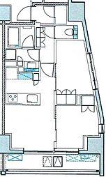 サンウッド広尾 4階2LDKの間取り